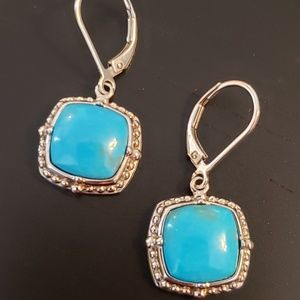💕Sterling and Turquoise  Pierced Earring
